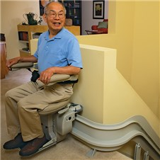 bruno CRE-2110 custom curved stair lifts Los Angeles CA Santa Ana Costa Mesa Long Beach  chairlifts