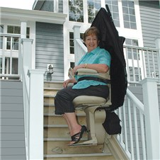 bruno SRE-2010E outside exterior StairLifts outdoors Los Angeles CA Santa Ana Costa Mesa Long Beach  stairchairs