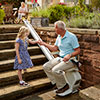 The Acorn Outdoor Stairlift in use.